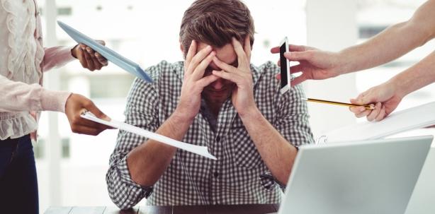Wenn Stress auf einen einstürmt